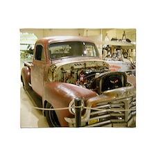 Gun Welded Rat-Rod Truck Throw Blanket