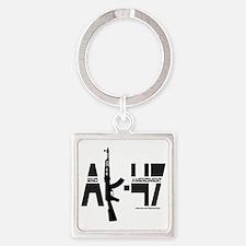 AK-47/2ND AMENDMENT/SECOND AMENDME Square Keychain