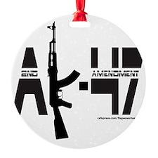 AK-47/2ND AMENDMENT/SECOND AMENDMEN Ornament