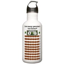 Counting 100 pennies Water Bottle