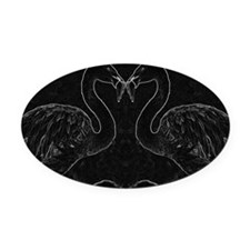Flamingo Sketch Oval Car Magnet