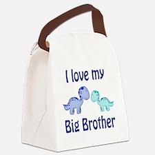 I love my big brother Dinosaur Canvas Lunch Bag