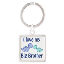 I love my big brother Dinosaur Square Keychain