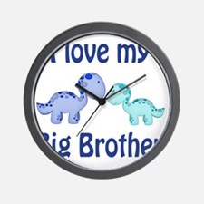 I love my big brother Dinosaur Wall Clock