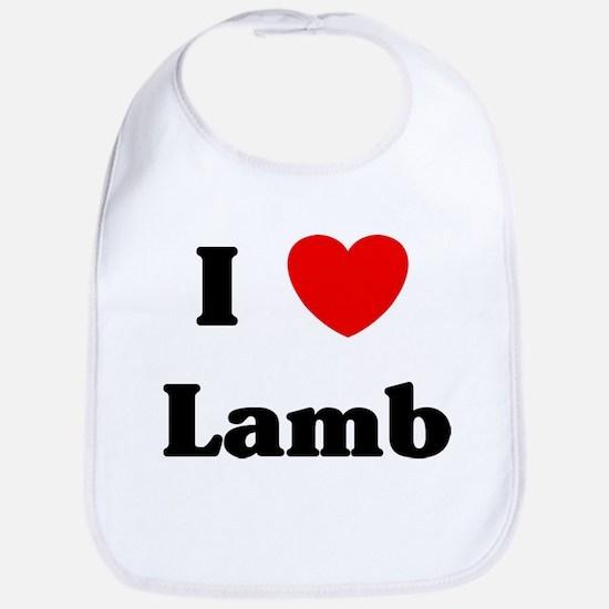 I love Lamb Bib
