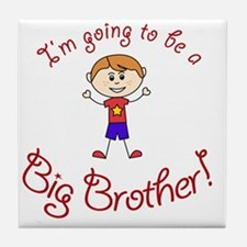 Im going to be a Big Brother! Tile Coaster