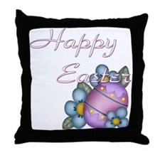 Happy Easter - Flower Throw Pillow