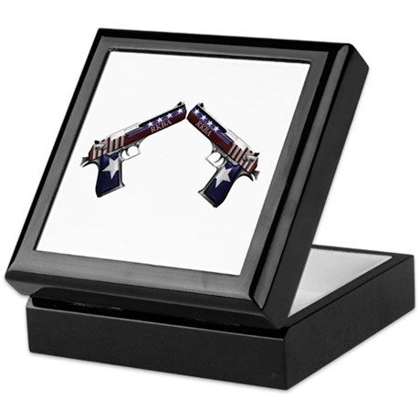 Patriotic RKBA Guns Keepsake Box