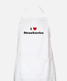 I love Strawberries BBQ Apron