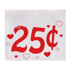 Kisses 25 cents Throw Blanket