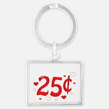 Kisses 25 cents Landscape Keychain
