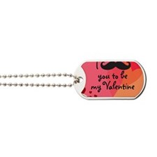 Mustache You Valentine Dog Tags