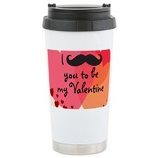 Mustache You Valentine Travel Mug