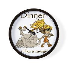 Cavegirl Wall Clock