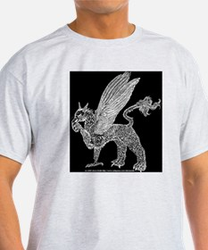 Pale Gryphon With Football T-Shirt