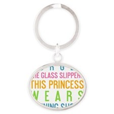 ipad Forget the glass slippers this  Oval Keychain