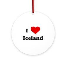 I Love Iceland Ornament (Round)