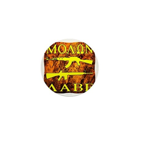 blk_grunge_molon_labe Mini Button