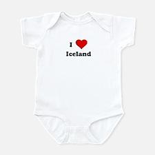 I Love Iceland Infant Bodysuit