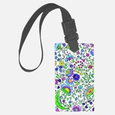 Floral Watercolor Iphone 3 Hard  Luggage Tag
