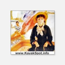"Renoir Square Sticker 3"" x 3"""