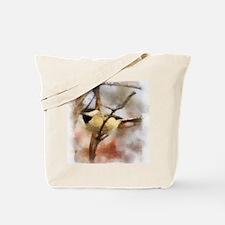 Chickadee Watercolor Tote Bag