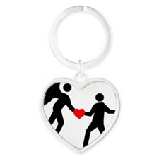 Marc's Angels Really Care logo Heart Keychain