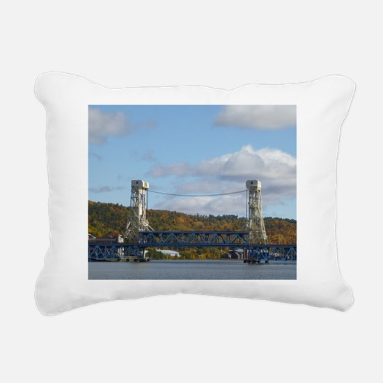 Portage Lake Bridge Rectangular Canvas Pillow