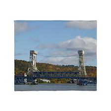 Portage Lake Bridge Throw Blanket