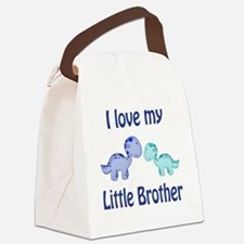 I love my Little Brother Dinosaur Canvas Lunch Bag