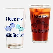 I love my Little Brother Dinosaur Drinking Glass