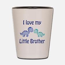 I love my Little Brother Dinosaur Shot Glass