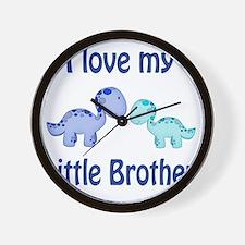 I love my Little Brother Dinosaur Wall Clock