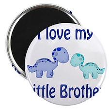 I love my Little Brother Dinosaur Magnet