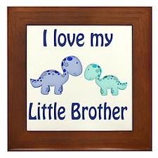 I love my Little Brother Dinosaur Framed Tile