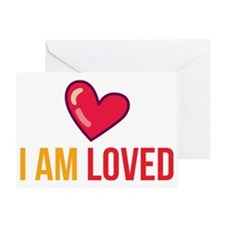 I am loved back Greeting Card