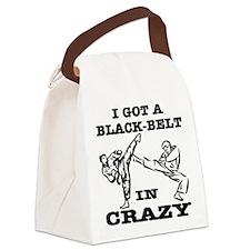 wht_black_belt_crazy Canvas Lunch Bag
