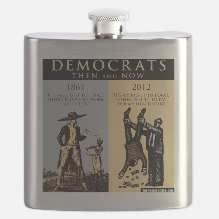 Democrats and Slavery Flask