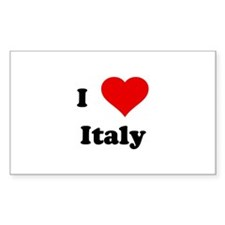 I Love Italy Rectangle Decal