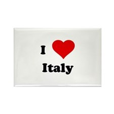 I Love Italy Rectangle Magnet (100 pack)