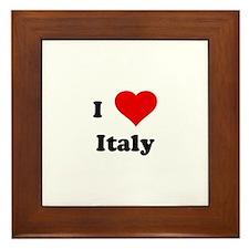 I Love Italy Framed Tile