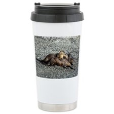 River Otters Travel Mug