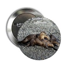 "River Otters 2.25"" Button"