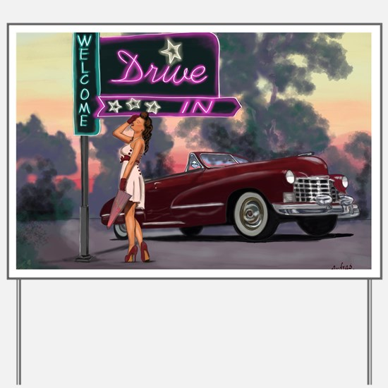 Welcome Drive In Yard Sign