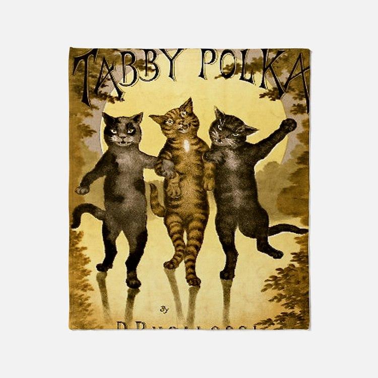 Tabby Polka Throw Blanket