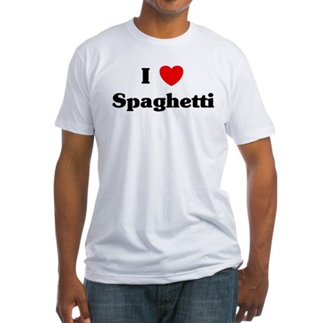 I love Spaghetti Fitted T-Shirt