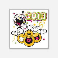 """2013 Smiley Square Sticker 3"""" x 3"""""""