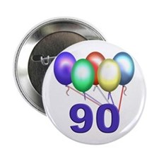 90th Birthday Button