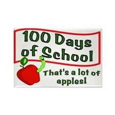 100 Days of Apples Rectangle Magnet