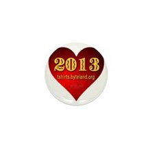 2013 Classic Red Heart Mini Button